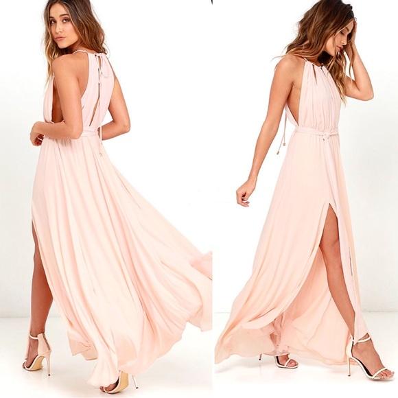 6d3b32a2fd0c Lulu's Dresses | Lulus Gleam And Glide Pink Maxi Dress | Poshmark